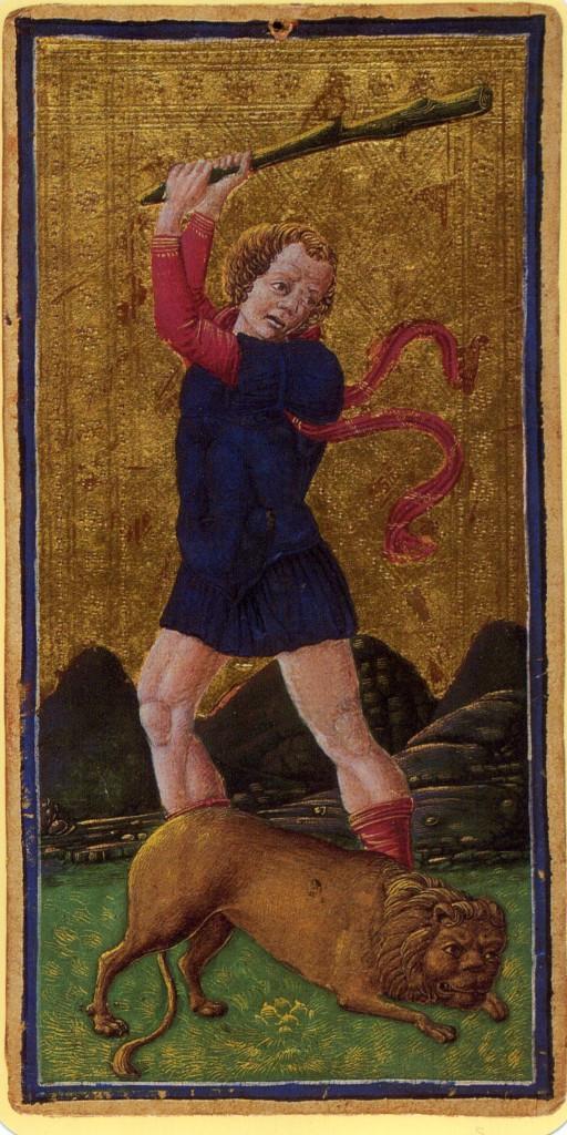 Πατήστε στην εικόνα για να τη δείτε σε μεγένθυνση  Όνομα:  arcanum-11-strength Sforza deck.jpg Εμφανίσεις:  439 Μέγεθος:  186,5 KB